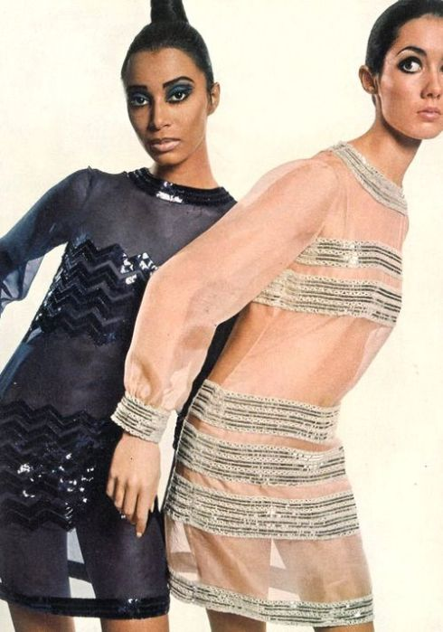 Donyale Luna and Moyra Swann by David Bailey, 1966.