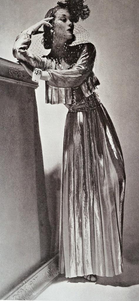Ludmila Feodoseyeva aka Lud in Chanel 1937 Ivory cuff bracelet by Verdura Photo by Horst P. Horst