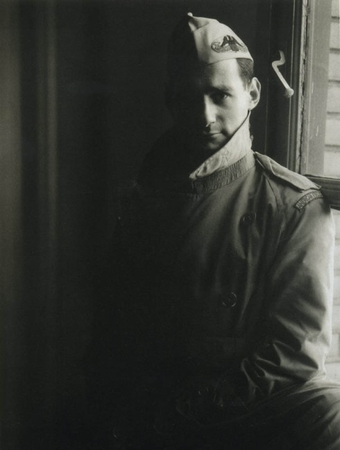 Photographer Irving Penn in his American Field Service uniform.