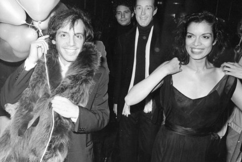 Steve Rubel, Halston and Bianca Jagger at Studio 54, 1978