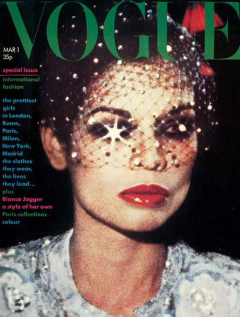 Bianca Jagger , cover Vogue