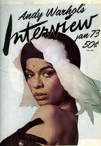 Bianca Jagger, cover Interview magazine