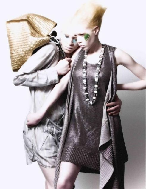 african american albino models shaun ross & diandra forrest