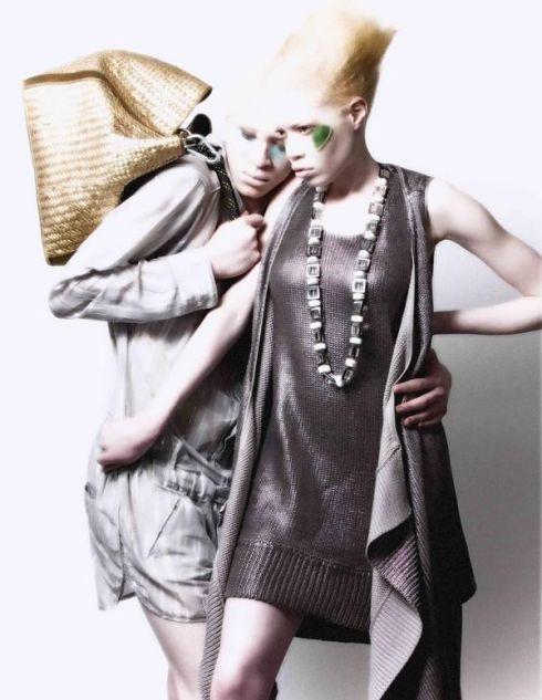 african american albino models shaun ross & diandra forrest