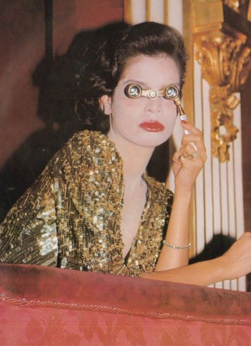 Bianca Jagger by Eric Boman for Vogue UK, March 1974.