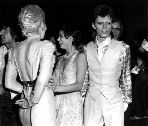 Bianca Jagger with David & Angie Bowie