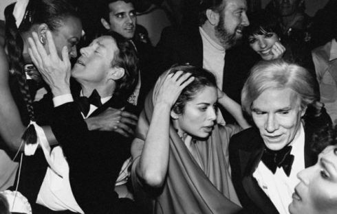 Liza Minnelli;Andy Warhol;Halston;Jack Jr. Haley [& Wife];Mrs. Mick Jagger