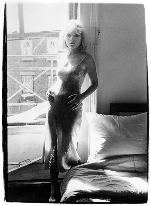 Debbie Harry in early Stephen Sprouse dress