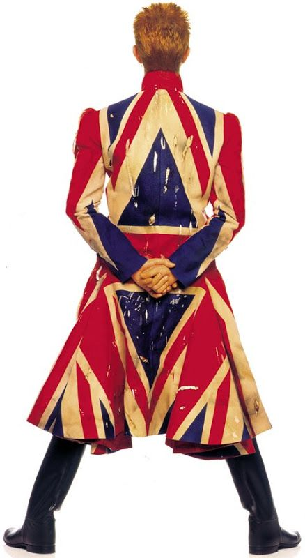 David Bowie wearing Alexander McQueen