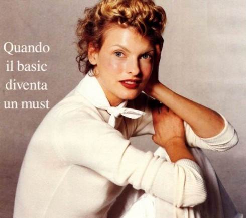Linda Evangelista as Katharine Hepburn Ph. Steven Meisel for Vogue Italia