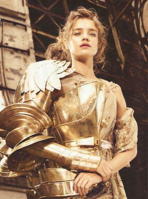 Natalia Vodianova in Christian Dior Haute Couture Fall 2006 by John Gallino