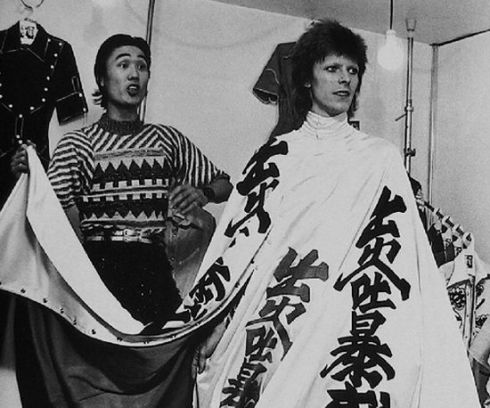 David Bowie and Kansai Yamamoto in Japan, 1973