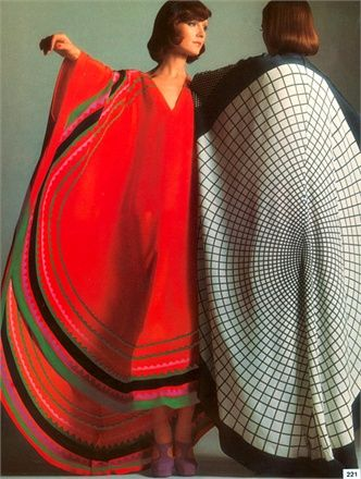 Vogue 1970s ethnic caftan dresses.