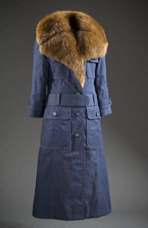 James Galanos, 1970, American, denim and sable fur