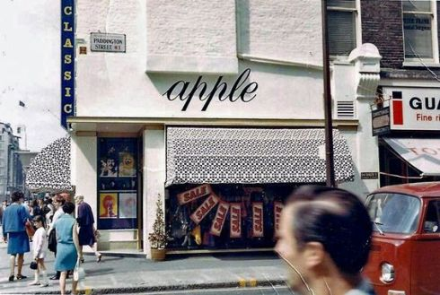The Beatles' Apple Boutique (after The Fool's psychedelic murals were painted over