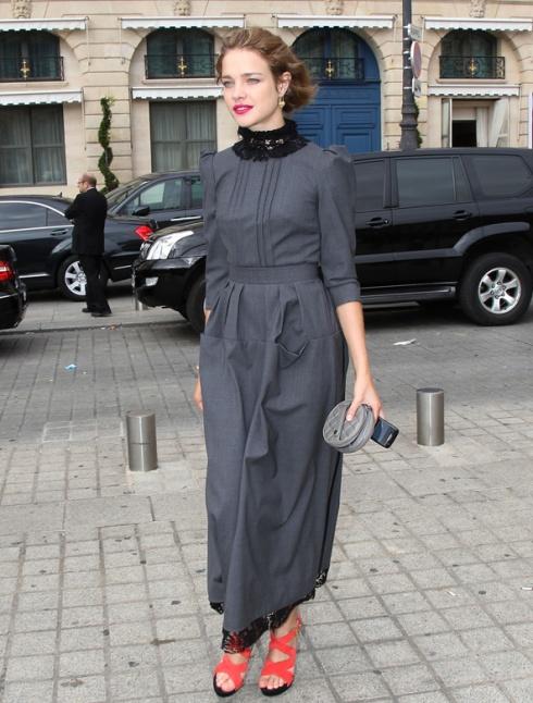 Natalia Vodianova in Ulyana Sergeenko couture