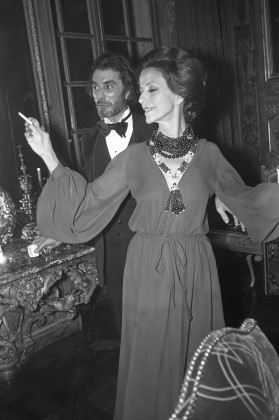 Gloria Guinness and Andre Oliver at the de Redé party. Photograph by Reginald Gray