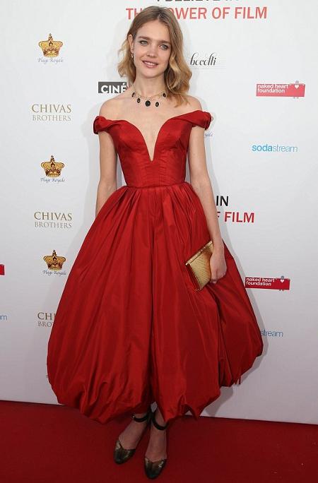 natalia vodianova wearing ulyana sergeenko couture