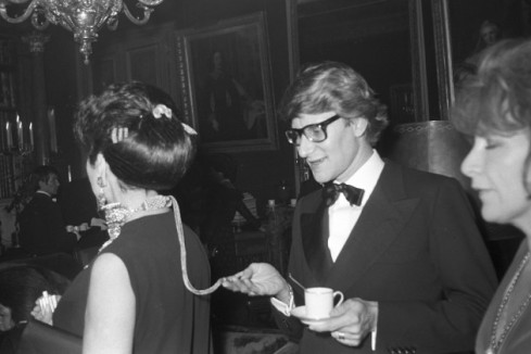 Yves Saint Laurent at a pre-party at Maxim's held by Baron Alexis 
